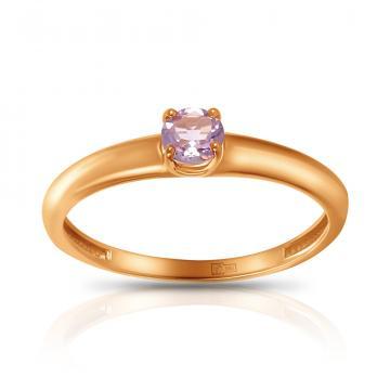 Кольцо TALANT из золота с аметистом