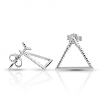 Серьги-пусеты TALANT Треугольник из серебра, коллекция Геометрия