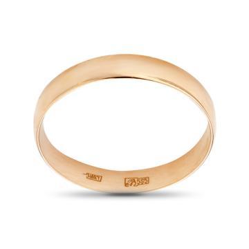 Кольцо обручальное из золота гладкое, 4 мм