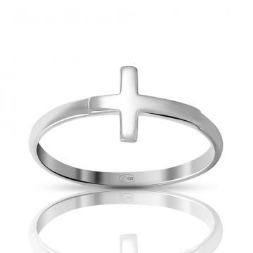 Кольцо TALANT Крест из серебра
