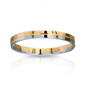 Кольцо обручальное из золота, 3 мм