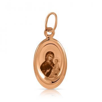 Подвеска-икона Тихвинской Божией Матери из золота