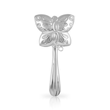 Погремушка SOKOLOV Бабочка из серебра