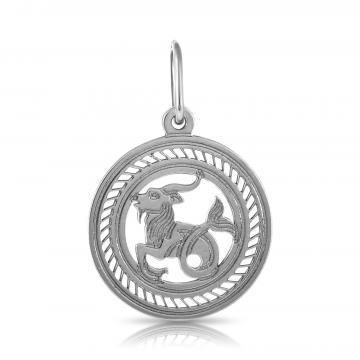 Подвеска из серебра, знак зодиака Козерог