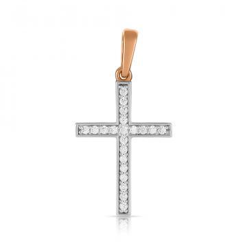 Подвеска-крестик TALANT из золота с фианитами