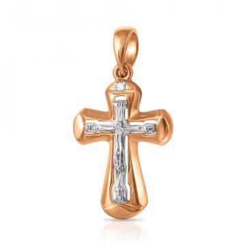 Крестик из золота с бриллиантом