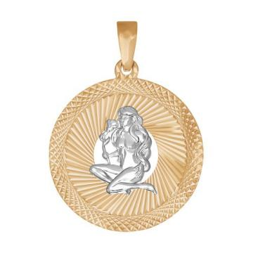 Подвеска SOKOLOV из золота, знак зодиака Дева