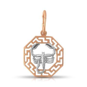 Подвеска TALANT из золота, знак зодиака Скорпион
