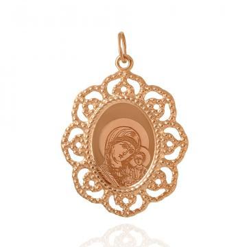Подвеска-икона Казанская Божия Матерь из золота