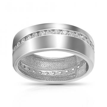 Кольцо обручальное SOKOLOV из серебра с фианитами