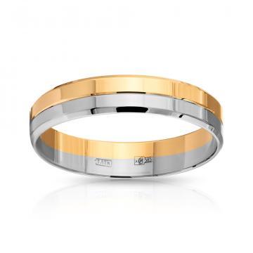 Кольцо обручальное из золота, 4 мм