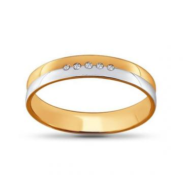 Кольцо обручальное SOKOLOV из золота с бриллиантами