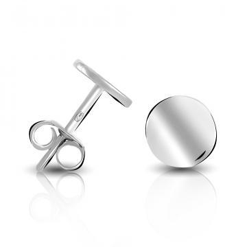Серьги-пусеты TALANT Круг из серебра, коллекция Геометрия
