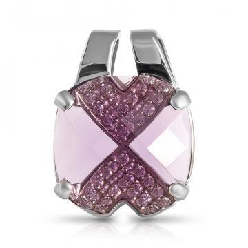 Подвеска из серебра с ювелирными кристаллами
