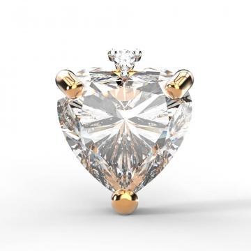 Серьга-пусета из золота с кристаллом SWAROVSKI и бриллиантом