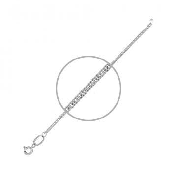 Цепочка, плетение Панцирь двойной, из серебра