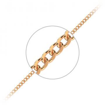 Браслет, плетение Панцирь двойной с алмазной гранью 2-х сторон, из золота
