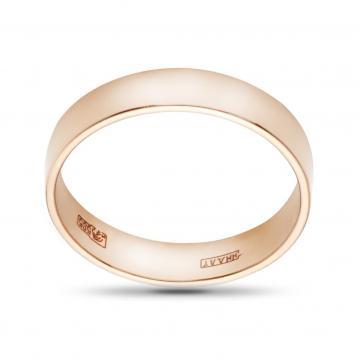 Кольцо обручальное из золота гладкое, 5 мм