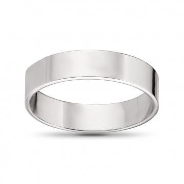 Кольцо обручальное из золота плоское, 5 мм