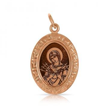 Подвеска-икона Божией Матери Семистрельная из золота
