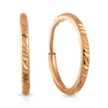 Серьги-конго из золота, 1,2 мм