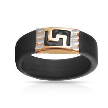 Кольцо с каучуком из золота