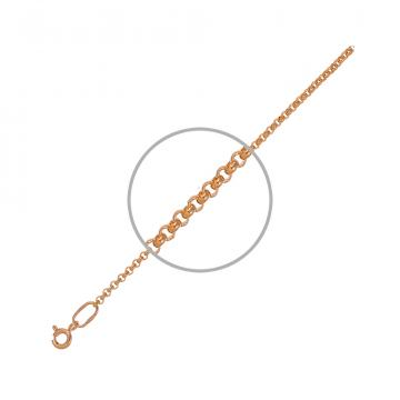 Цепочка, плетение Ролло, из золота