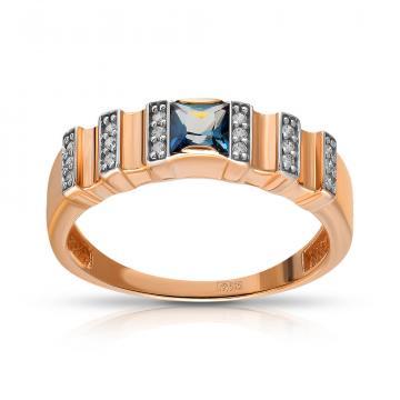 Кольцо TALANT из золота с топазом и фианитами