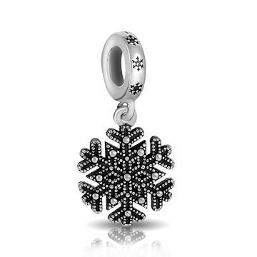 Подвеска-шарм Снежинка из серебра
