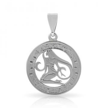 Подвеска из серебра, знак зодиака Дева