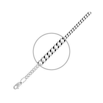 Браслет, плетение Панцирь, из серебра