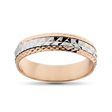 Кольцо обручальное из золота с вращающейся вставкой