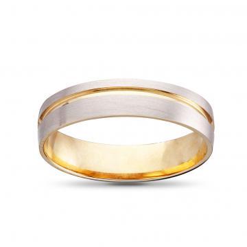 Кольцо обручальное из золота, синтеринг, 5мм